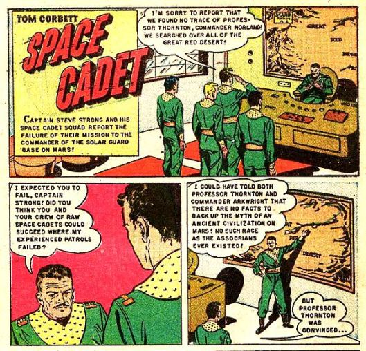 A very old cartoon strip about space cadets
